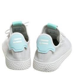 Pharrell Williams X adidas White/Green Tennis HU Low Top Sneakers Size 41.5