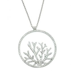 355cc705db4 Piaget Limelight Paradise Tropical Seas Coral Inspiration Diamond 18k White  Gold Pendant Necklace