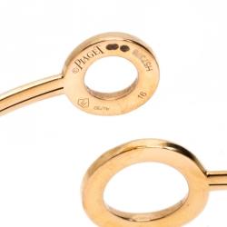 Piaget Possession Diamond 18K Rose Gold Adjustable Bypass Bracelet 16