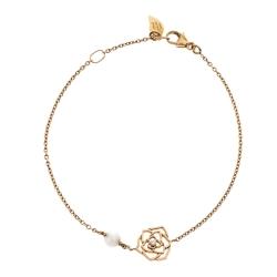 Piaget Rose Diamond & Cultured Pearl 18K Rose Gold Bracelet