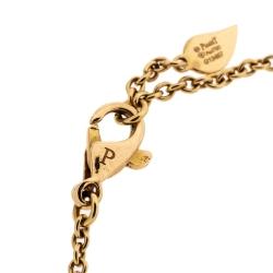 Piaget Diamond Rose Motif 18K Yellow Gold Chain link Bracelet