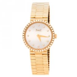 Piaget Silver 18K Rose Gold Diamonds Traditional G0A37042 Women's Wristwatch 26 mm