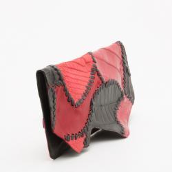 Pierre Balmain Red Ultimate Croco Clutch