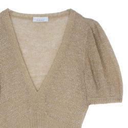 Pinko Gold Knit Dress S