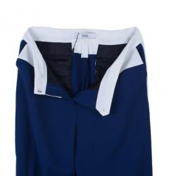 Prabal Gurung Navy Tuxedo Wide Leg Pants M