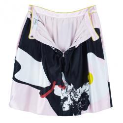 Prabal Gurung Floral Flounce Skirt M
