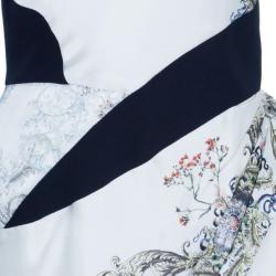 Prabal Gurung Sleeveless Printed Ruched Dress S