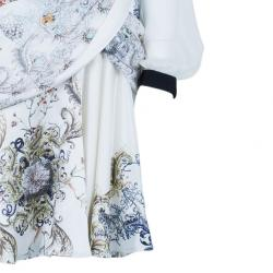 Prabal Gurung Full Sleeve Printed Combo Dress M
