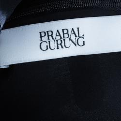 Prabal Gurung Maxi Chiffon Silk Printed Ruffle Dress L
