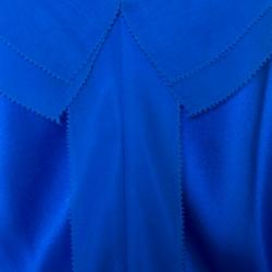 Prabal Gurung Blue Silk Satin Chiffon Trim Camisole M