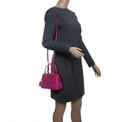 2d9fc090c497 Buy Prada Pale Blue Saffiano Lux Leather Mini Double Zip Top Handle ...