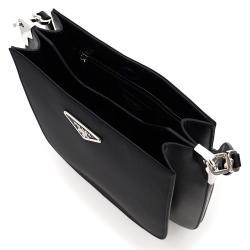 Prada Black Leather Margit Shoulder Bag
