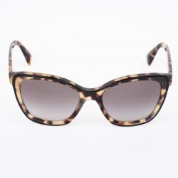 Prada Tortoise Shell Square Cat Eye Womens Sunglasses