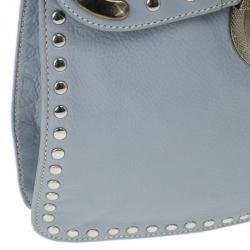 Prada Light Blue Studded Leather Small Crossbody