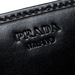 Prada Black Nylon Embellished Continental Wallet