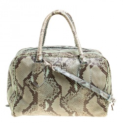 2d04679cd3 Prada Mint Green Black Python Bowling Bag