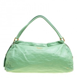 417949370c7a Prada Green Leather Bowler Bag