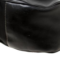 Prada Black Tessuto Moon Shoulder Bag