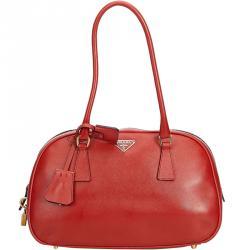 9acf9e6675dc Prada Red Leather Everyday Bag