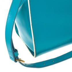 Prada Saffiano Framed Top Handle Bag