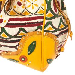 Prada Canapa Stampata Frame Bag