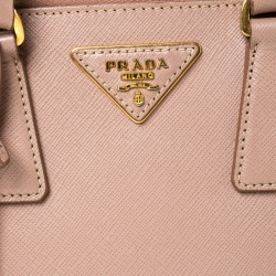 Prada Nude Beige Saffiano Leather Small Promenade Shoulder Bag