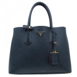 Prada Black Saffiano Soft Leather Convertible Tote