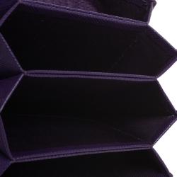 Prada Purple Saffiano Lux Leather Card Holder