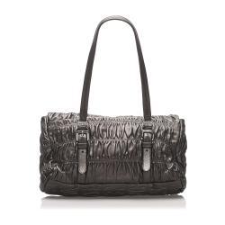 Prada Brown Leather Nappa Gaufre Bag