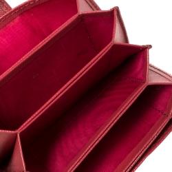 Prada Pink Saffiano Leather Accordian Card Case