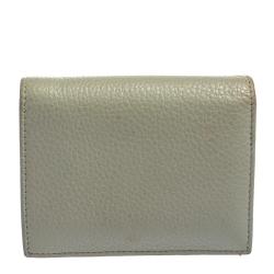 Prada Grey Vitello Leather Portafoglio Vertical Wallet