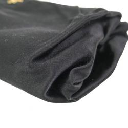 Prada Black Satin Raso Vero Clutch