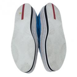 Prada Sport Blue Suede Linea Rossa Espadrille Loafers Size 39