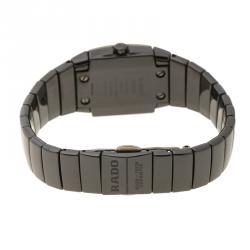 Rado Black Ceramic Titanium Sintra 318.0726.3 Women's Wristwatch 22 mm