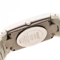 Rado Gold White Ceramica 01.152.0709.3.025 Women's Wristatch 27 mm