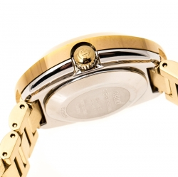 Rado Yellow Gold PVD Coated Diastar R2416634 Women's Wristwatch 27 mm