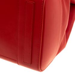 Ralph Lauren Red Leather Ricky Top Handle Bag