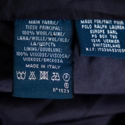 جاكيت بليزر رالف لورين صوف أزرق كحلي بالشعار المزخرف أزرار أمامية مقاس متوسط - ميديوم