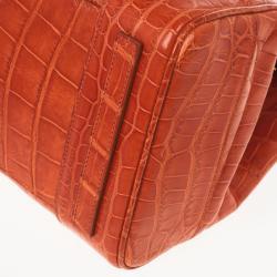 Ralph Lauren Alligator Orange Ricky Bag