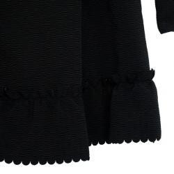 RED Valentino Velvet Trimming Black Coat L