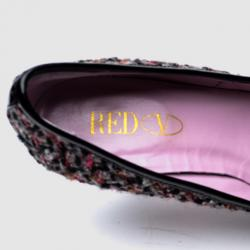 RED Valentino Tweed & Patent Leather Bow Pumps Size 38