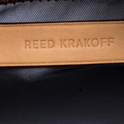 Reed Krakoff Brown/Grey Leather and Felt Boxer Tote