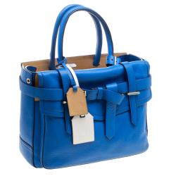 Reed Krakoff Rosewood Blue Leather Boxer Tote