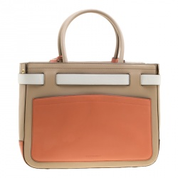 Reed Krakoff Tri Color Leather Medium Boxer Tote