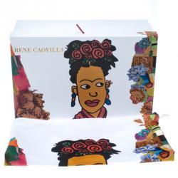 Mahaweb Frida Kahlo Design Limited Edition Shoe Box & Dust Bag for Rene Caovilla