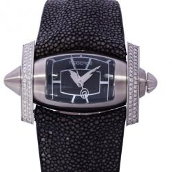 Roberge Black Stainless Steel Virgo Women's Wristwatch 48MM
