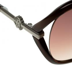 Roberto Cavalli Brown 591S Edera Square Sunglasses