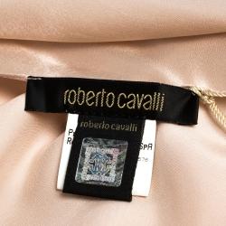 Roberto Cavalli Champagne Pink Silk Satin Stole