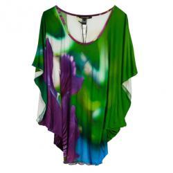Roberto Cavalli Multicolor Silk Tunic Top S