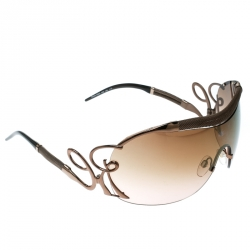 615944b4e763 Roberto Cavalli Bronze Brown Gradient Botein 852S Shield Sunglasses